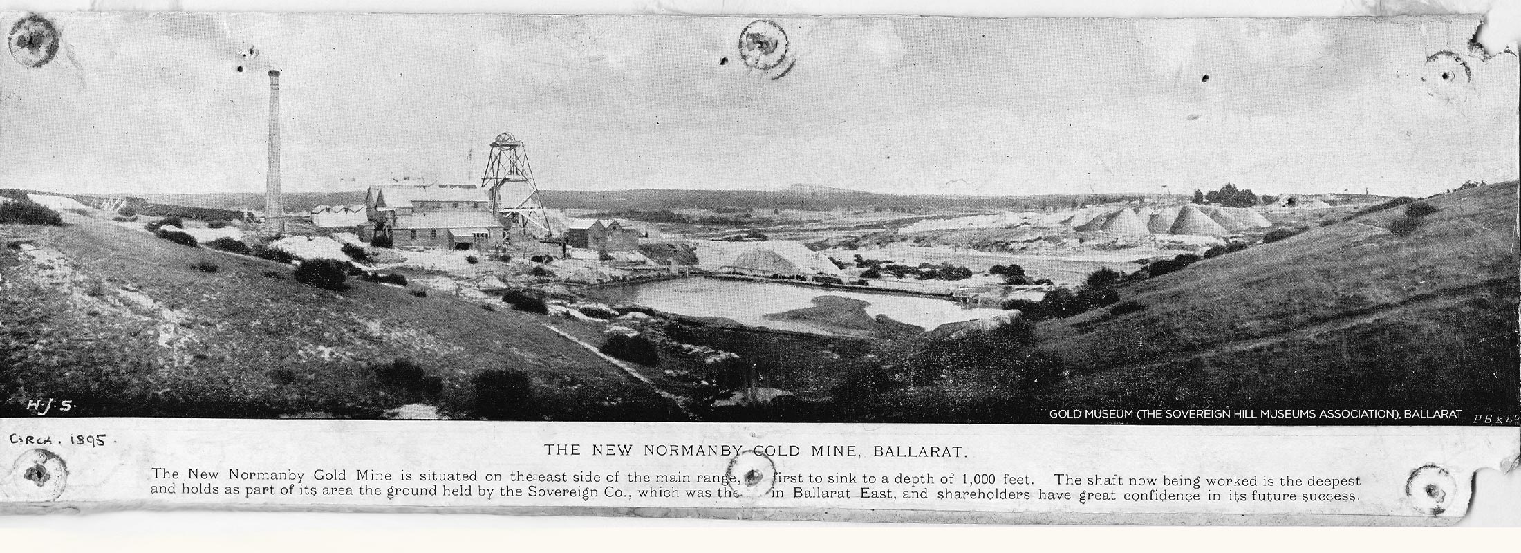 Ballarat Gold Mine - Newspaper