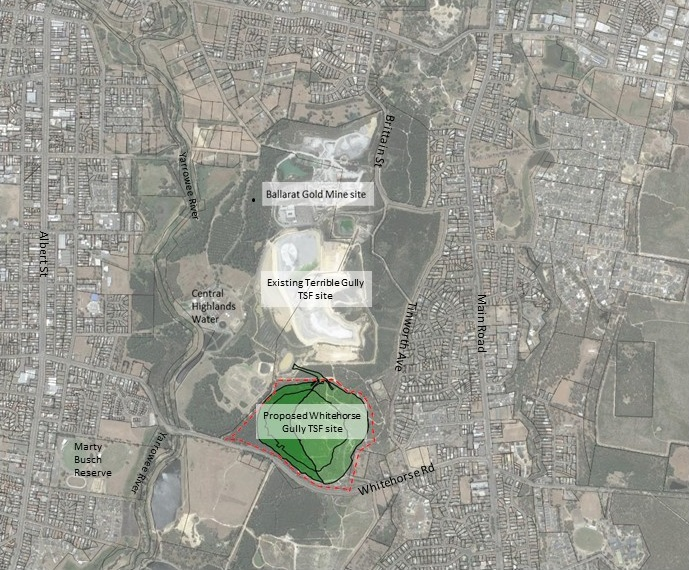 Proposed site for new TSF